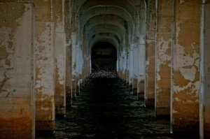 dark dungy corridor